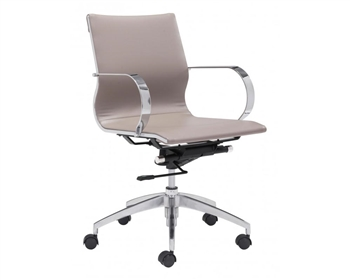 Glider Modern Low Back Office Chair Taupe