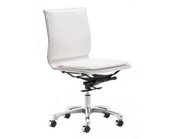 Lider Plus Armless Modern Office Chair White Special Order Item