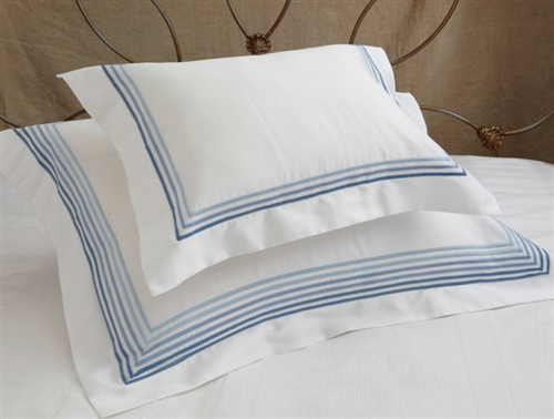 Horizon Duvet Set - Sky Trim