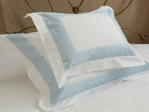 Quadrille Duvet Set - Celeste Trim