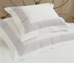 Quadrille Duvet Queen - Grey Trim