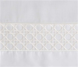 Lattice Duvet Set - Queen White Trim