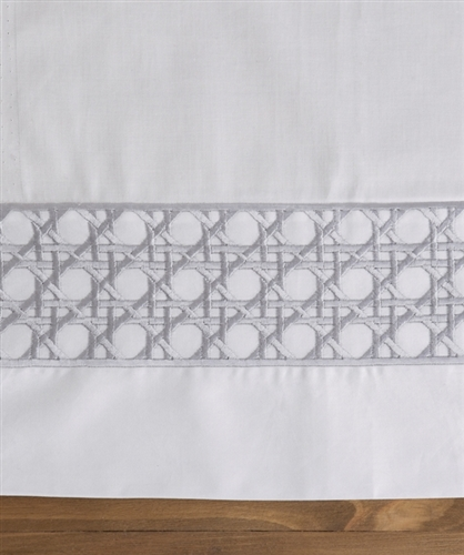 Lattice Duvet Set White and Graphite