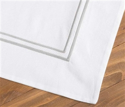 Hotel Modern White and Graphite Trim Sham - QUEEN