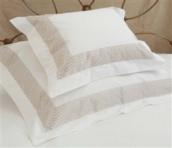 Quadrille Duvet Queen Almond Trim