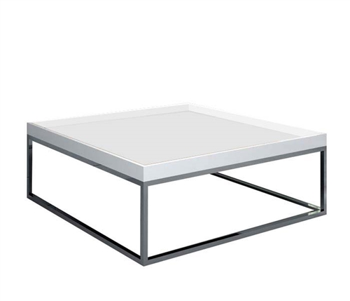 A unique and stylish coffee table with removable trays that provides a creative look.