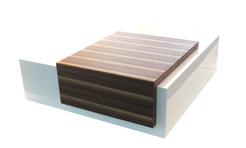 Ultra-modern sliding panel coffee table