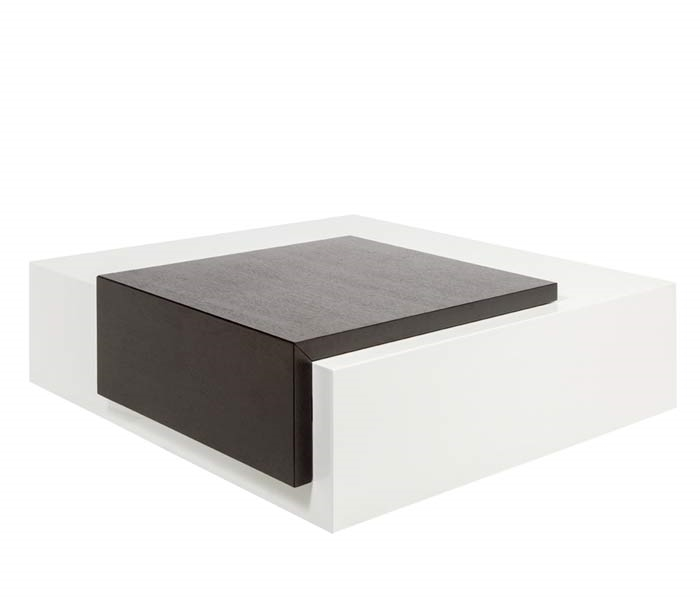 Brilliant Sabri Modern Coffee Table In Wengue White Final Sale Inzonedesignstudio Interior Chair Design Inzonedesignstudiocom