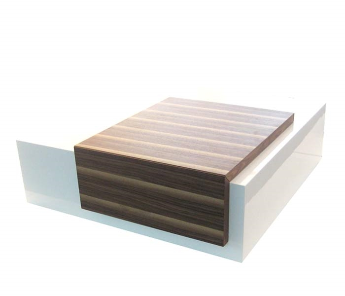 Fine Sabri Modern Coffee Table In Walnut White Final Sale No Returns Inzonedesignstudio Interior Chair Design Inzonedesignstudiocom