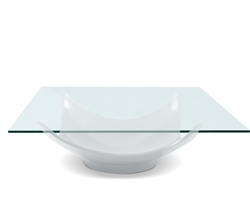 Aleta Modern Coffee Table in White