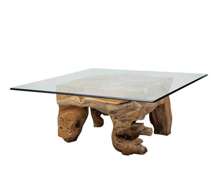 New Teak Root Modern Coffee Table Square