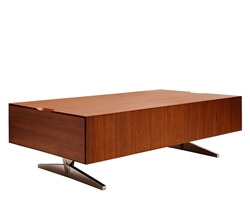 Avola Modern Coffee Table in Walnut