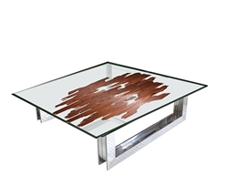Ebony Double Glass veneer insert Coffee Tabl