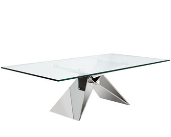 Spezia Modern Coffee Table tempered Glass Top