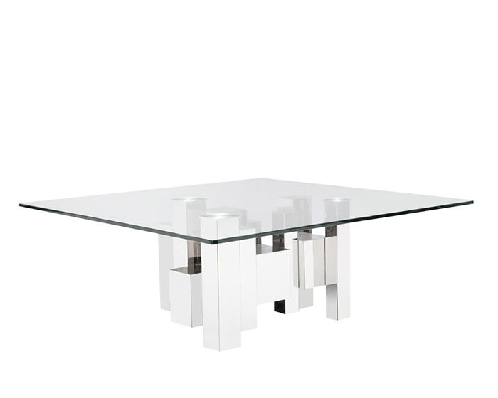 Sanremo Modern Square Coffee Table tempered Glass Top