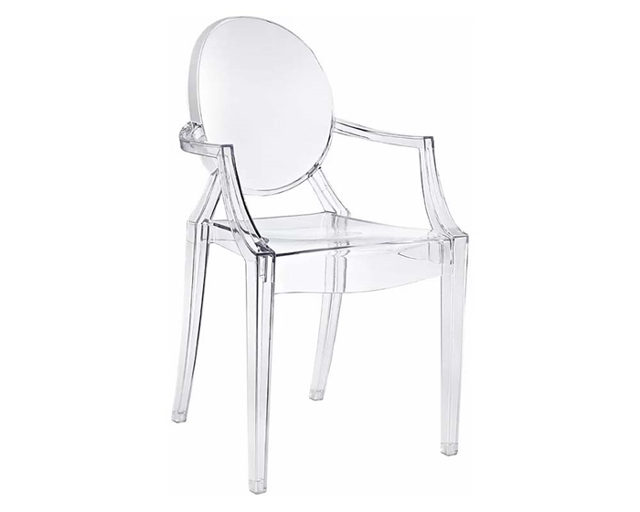 Anime Armless Modern Dining Chair in Transparent - FINAL SALE -NO RETURNS