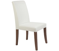 Canini Modern Dining Chair in Off White and Tobacco