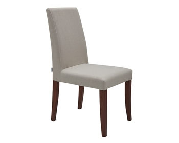Canini Modern Dining Chair in Off White and Walnut