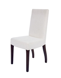 Granada Modern Dining Chairs In Beige Fabric wengue legs - SOLD AS IS - FINAL SALE - NO RETURN