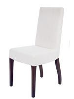 Granada Modern Dining Chairs In White Leatherette - Wengue Legs - SOLD AS IS - FINAL SALE - NO RETURN