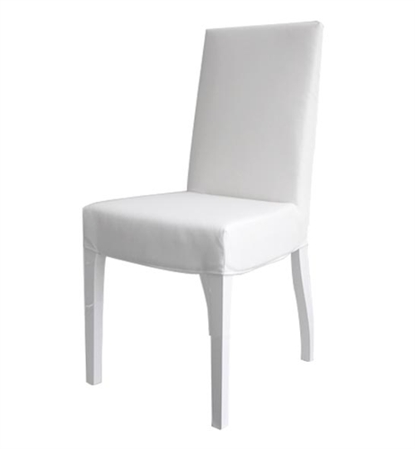 Granada Modern Dining Chairs In White Leatherette - White Legs - FINAL SALE - SOLD AS IS - NO RETURN