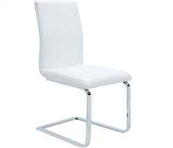 Matino Modern Dining Chair in White leather