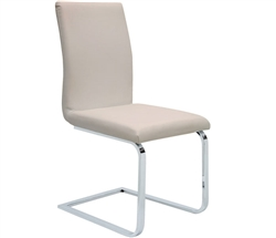 Matino Dining Chair in soft espresso or white leatherette will provide an elegant and comfortable solution to your dining set.