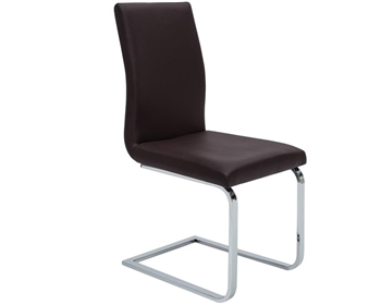 Matino Modern Dining Chair in Espresso Leather