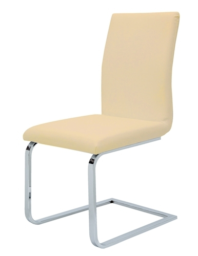 Matino Dining Chair in soft espresso or white leatherette will provide an elegant and comfortable solution to your dining set. Final Sale