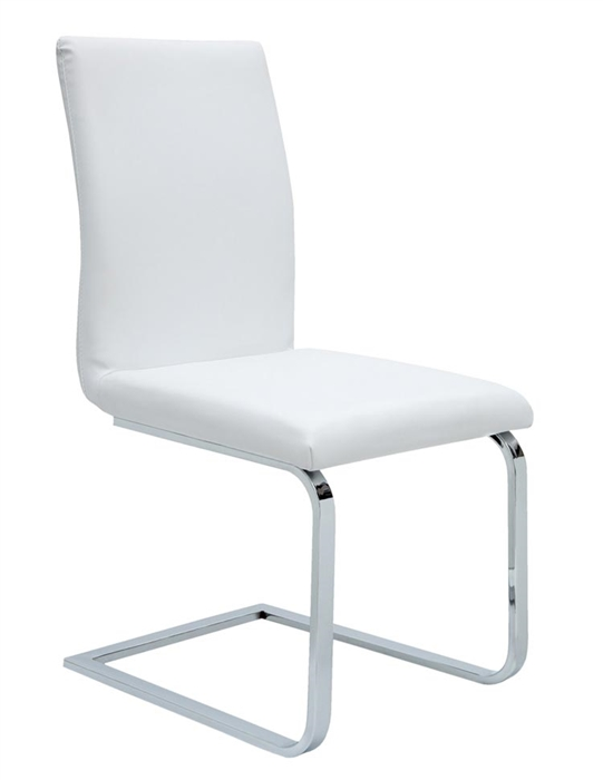 The Matino Dining Chair in soft espresso or white leatherette will provide an elegant and comfortable solution to your dining set.