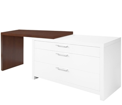 Vercelli Modern Desk with L-shape in Tobacco Outlet Piece
