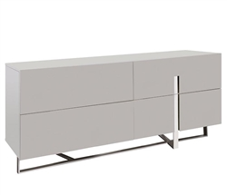 Lugo Modern Cabinet in Grey Lacquer