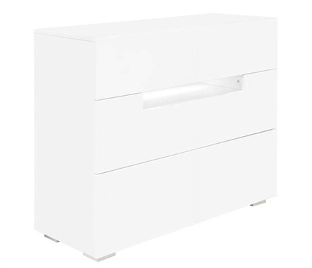 Citra Modern Cabinet in White Lacquer