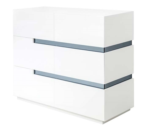 Ancio Modern Cabinet in White Lacquer