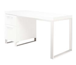 corsica modern desk in white lacquer