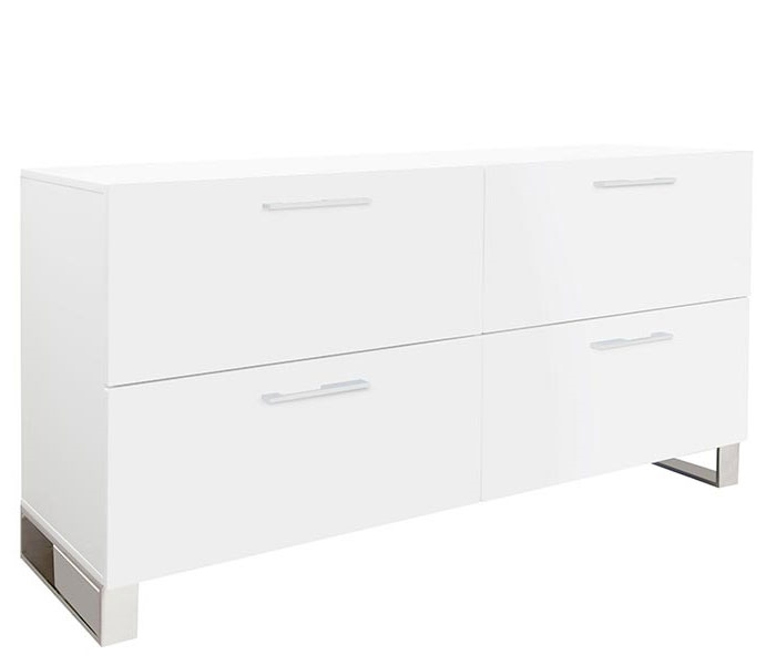 Corsica Modern Cabinet In White Lacquer