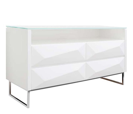 Chisea Modern Cabinet in White
