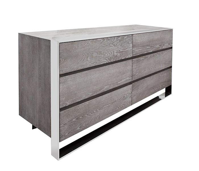 Turni Modern Cabinet in Grey Wood