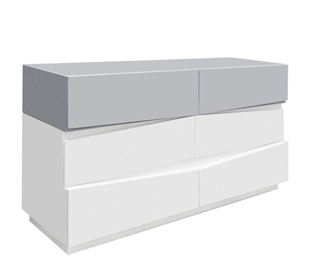 Salermo Modern Cabinet in White and Grey