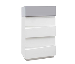 Salermo Modern Cabinet CHEST in White and Grey