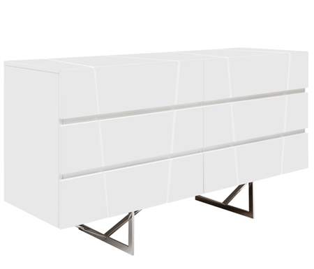 Bellagio Modern Cabinet in White Lacquer