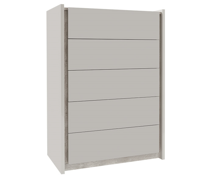 Ana Modern 5 DrawerCabinet CHEST in GREY