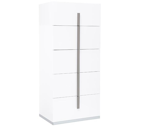Mara Modern Italian Tall Chest White