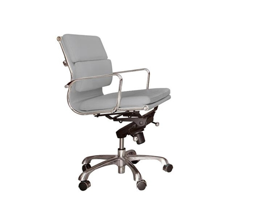 Stylish, comfortable leatherette desk chair in white