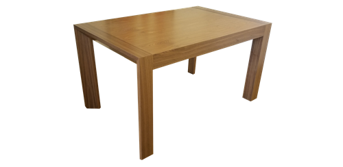 Elegant and contemporary dining table in walnut wood veneer finish