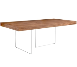 Lucca Modern Dining Table in Walnut