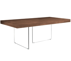 Lucca Modern Dining Table in Tobacco