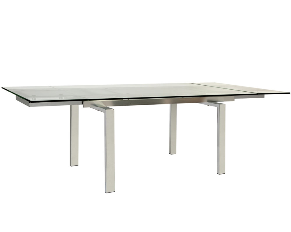 Dining Tables mh2gcom Torino Expandable clear Glass
