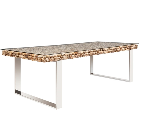 Osimo Modern Dining Table in Driftwood