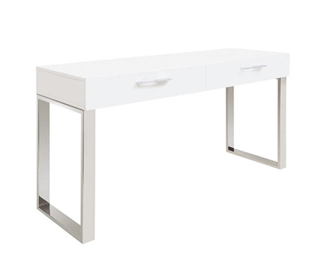 Corsica Modern Console Table in White Lacquer